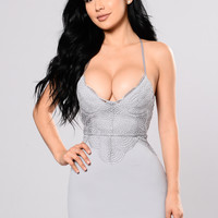 Born To Be With You Dress - Blue Grey
