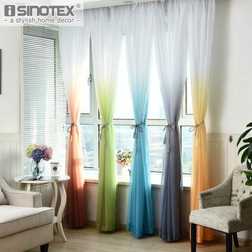 Voile Sheer Rainbow General Color Changing Curtain