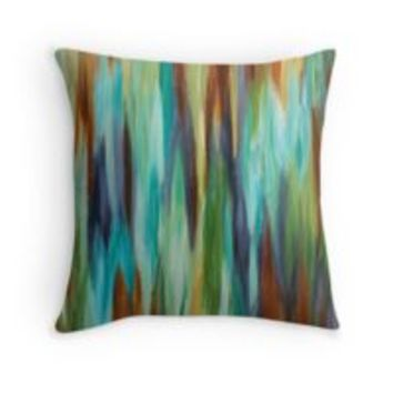 'Abstract Painting' Throw Pillow by Maria Meester