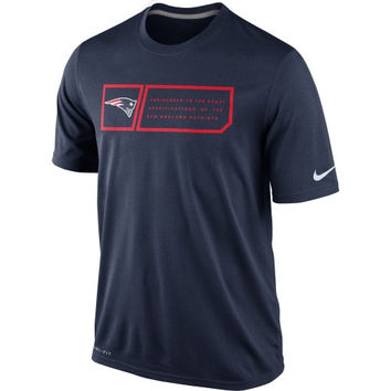 Nike New England Patriots Legend Jock Tag Performance T-Shirt - Navy Blue