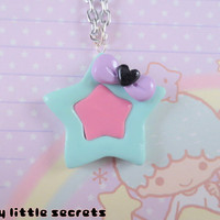Pastel Fairy Kei Star Bow Necklace by NerdyLittleSecrets on Etsy