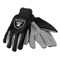Oakland Raiders  Official NFL 2015 Ulitity Gloves - Colored Palm
