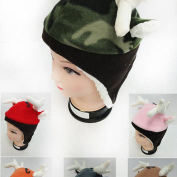 Children's Fleece Hat with Deer Antler & Ears Case Pack 12