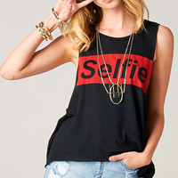 SELFIE TANK TOP - BLACK