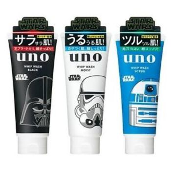 Pre: Shiseido UNO Whip Wash 130g STAR WARS 3 type Limited Package face wash