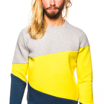 Pantone Bounded Jersey Wet Weather/Vibrant Yellow/Dark Denim Sweater
