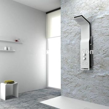 Solid surface stone shower panel artificial stone Multifunction wall mounted shower column man-made stone panel RS0052-329