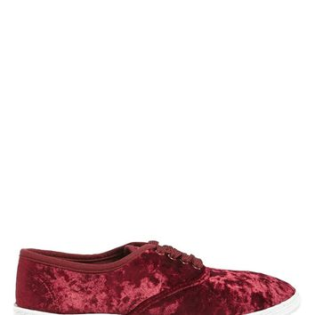 Crushed Velvet Sneakers
