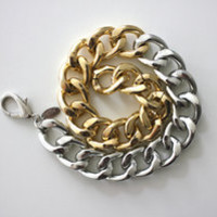 MP-Fashion — Glossed Ombre Silver & Gold 16'' Bracelet