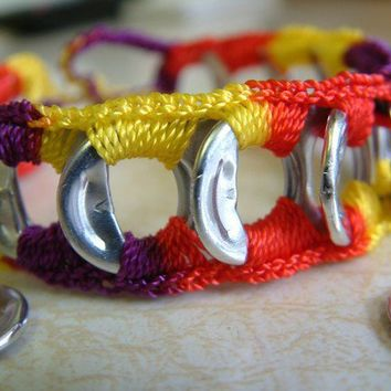 ReCycladelic Upcycled Pop Top Bracelet Mardi Gras in by lanmom