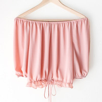 Ruffled Off Shoulder Crop Top