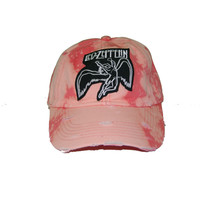 Vintage Culture Led Zepplin Patched Distressed Dad Hat In Bleached Coral