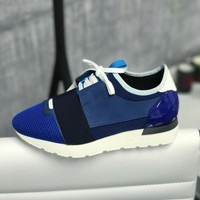 Balenciaga Blue Running Race Woman Sneakers