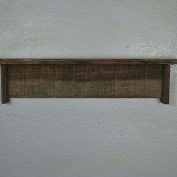 Reclaimed old wood wall shelf  22 wide 4 deep