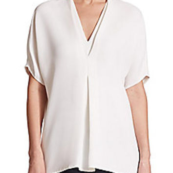Vince - Draped Crepe Top - Saks Fifth Avenue Mobile