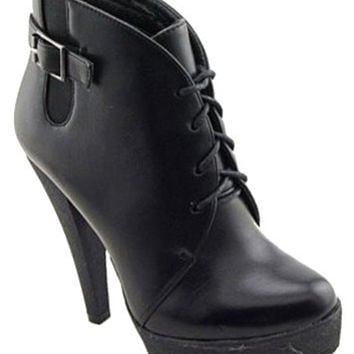 Charles David High Heel Black Ankle Boots Booties  Size: 9  Regular (M, B)