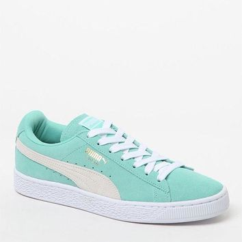 DCCKYB5 Puma Women's Mint Suede Classic Sneakers