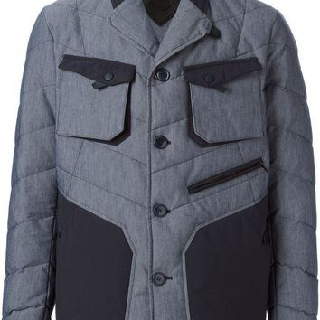 Moncler W quilted colour block jacket