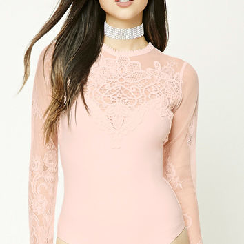 Eyelash Lace Crochet Bodysuit