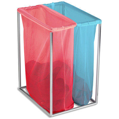 Chrome Double Laundry Bag Stand