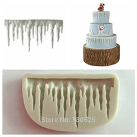 Icicles Cake Decoration Silicone Mold Icicle Border Sugarcraft Frozen Fondant Cake for Christmas