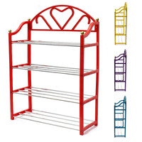 NEW Environmental Plastic home 4 Tier Shoes Rack Shelf Storage Organizer Metal Pipe Stand Holder Shelves