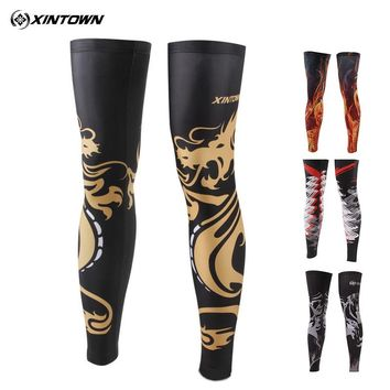 XINTOWN No-Slip Cycling Leg Warmer Bike Bicycle Guards Knee Warm Sleeves Covers Windproof Size S-XXXL 16 COLORS