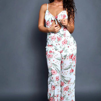 All Over Floral Party Jumpsuit