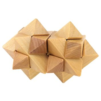 3D Wood Brain Teaser Puzzle - Challenge Your Logical Thinking and Kill the Boring Time #28 - Perfect Gift for Kids