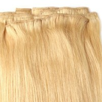 "20"" Inch Silky Straight Clip on in Human Hair Extensions, 10pcs, 100g, Color #613 (Platinum Blonde):Amazon:Beauty"