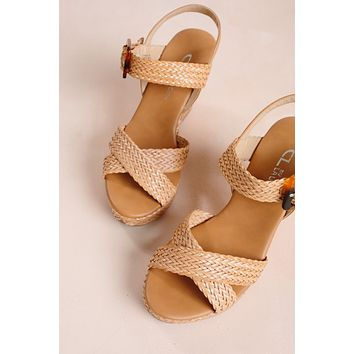 Chinese Laundry Braid Sandal Wedge