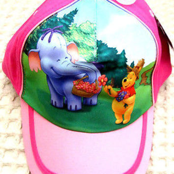 Disney Winnie the Pooh Screen Print  Boys Girls Pink Baseball Cap-New with Tags!
