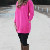 More Than A Feeling Tunic: Pink - Lavish Boutique