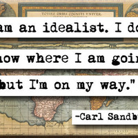 $4.00 Carl Sandburg Quote Magnet by chicalookate on Etsy