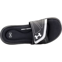Under Armour Women's Ignite VIII Slides - Black/White | DICK'S Sporting Goods