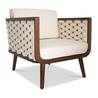 Wilshire Woven Accent Chair PEARL