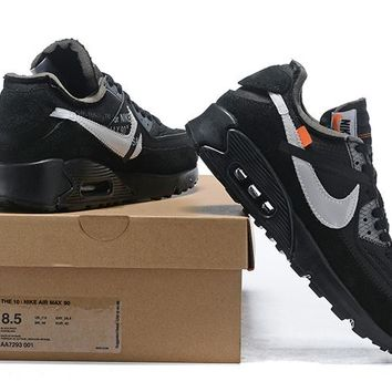 Off White x Nike Air Max 90 OW AA7293-001 36-46 9248efd78