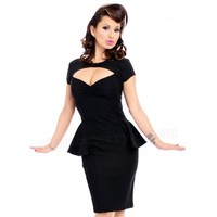 Steady Clothing Emma Peplum Dress | Pin Up Rockabilly