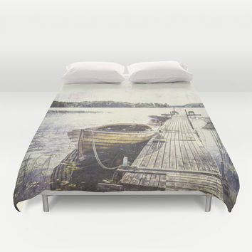 Boaty Duvet Cover by HappyMelvin