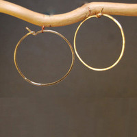 Hoop Earrings - Medium - SILVER