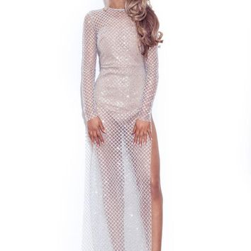 'Glitterball' Bodysuit Maxi Dress LL
