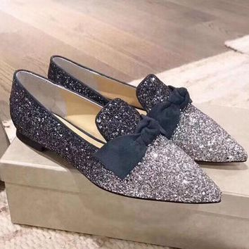 Jimmy Choo Women Fashion Simple Casual  Loafers  Shoes