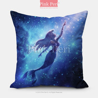 The little mermaid Disney Galaxy Pillow case Pillow Cover pillow sham Free shipping Handmade Custom Home & Living Wedding Gifts Wedding Idea Z023