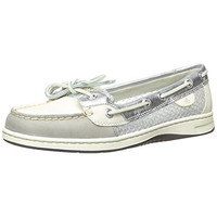Sperry Womens Angelfish Leather Mesh Inset Boat Shoes