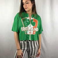 Ireland Cropped Zip-Up Tee (various sizes)