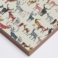 oatmeal spice deer Wood Print
