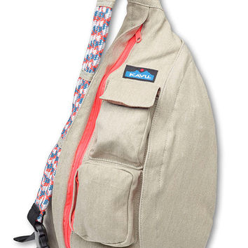 Monogrammed Kavu Rope Bags - Taupe