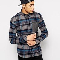 Minimum | Minimum Shirt with Check and Contrast Pocket at ASOS