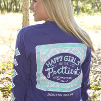 Jadelynn Brooke Happy Girls Long Sleeve Southern Preppy Tee HAPPYGIRLS-LS
