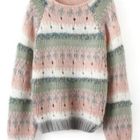 Multi-Color Cut-Out Sweater